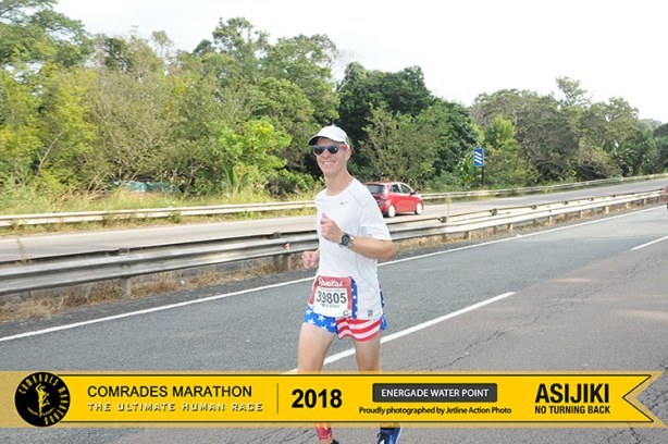 Mike Sohaskey running 2018 Comrades Marathon down run