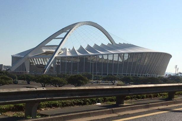 Moses Mabhida Stadium in Durban, 2018 Comrades Marathon finish