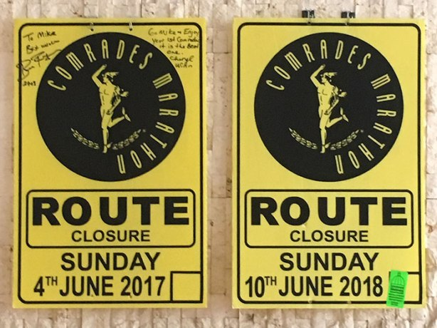2017-2018 Comrades Marathon course signs