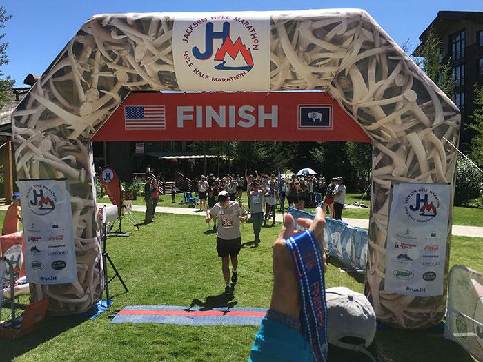 50 States Finisher Grif at Jackson Hole Marathon 2018
