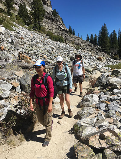 Hiking Cascade Canyon after Jackson Hole Marathon
