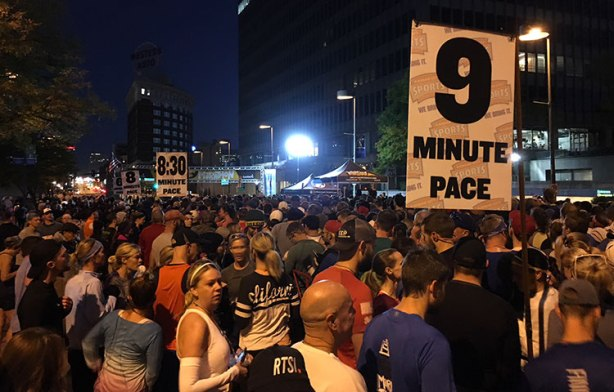Kansas City Marathon start corrals