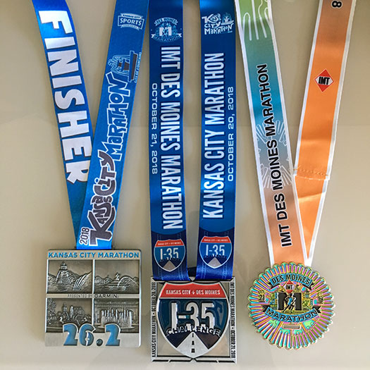 I-35 Challenge medals
