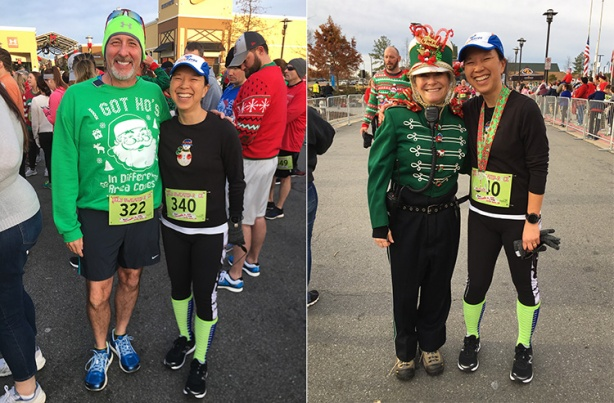 Katie Ho at Ugly Sweater Run with LIttle Rock race director Gina Marchese Pharis