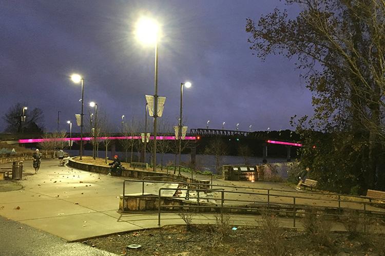 Two Rivers Park Bridge at dawn