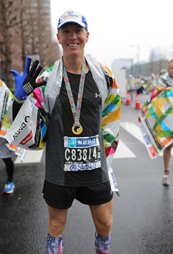 Mike Sohaskey finishing 5th World Marathon Major at 2019 Tokyo Marathon