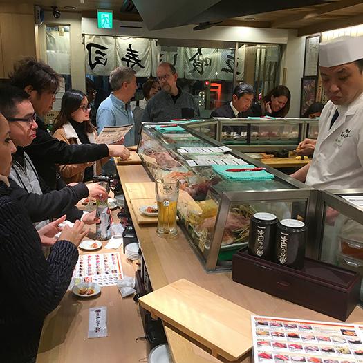 Standing Sushi Bar near Shibuya Crossing
