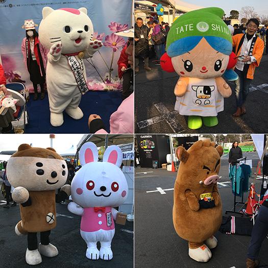 Characters at Tokyo Marathon