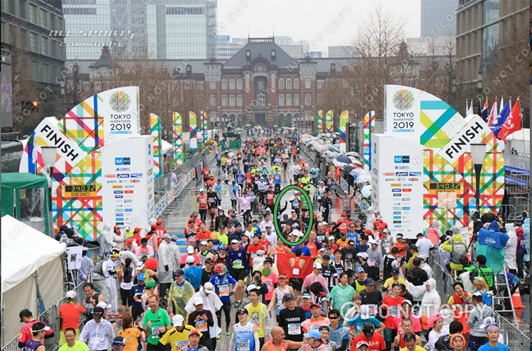 Finding Mike Sohaskey at Tokyo Marathon finish line