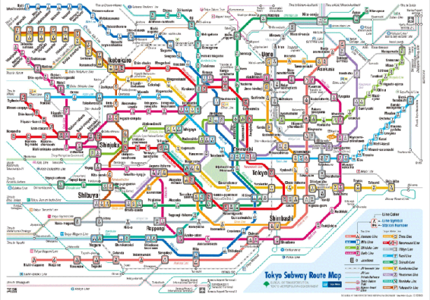 Tokyo Subway Route map