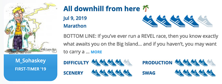 RaceRaves rating for REVEL Kulia Marathon