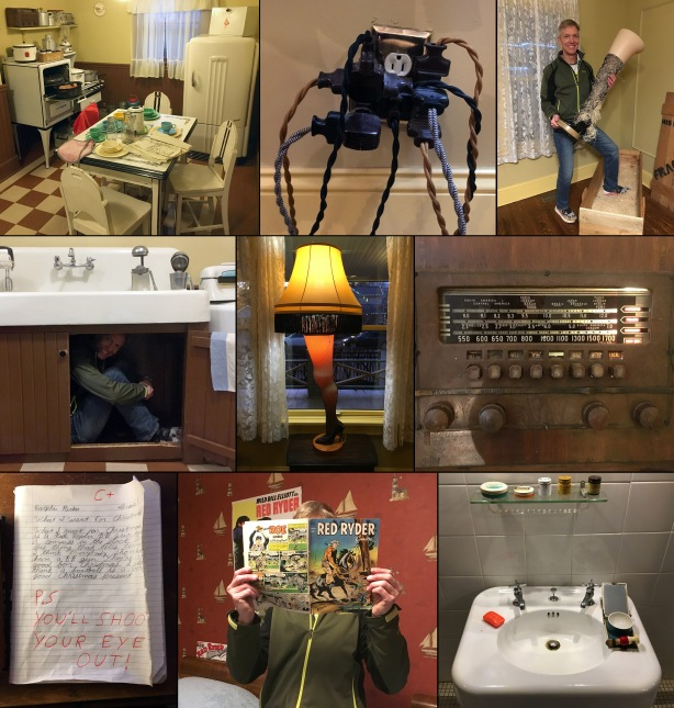 Collage of A Christmas Story House interior