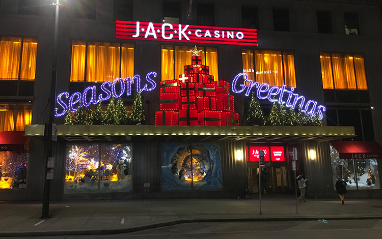 Jack Casino (aka Higbee's Department Store) holiday storefront