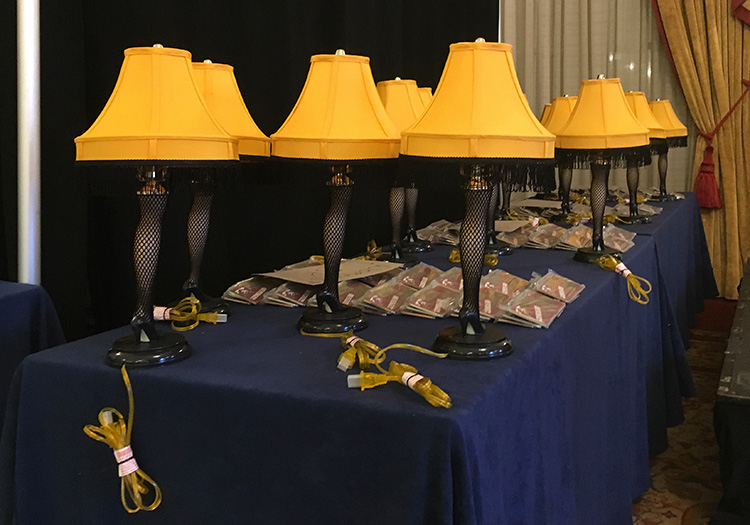 Overall and age-group winner leg lamp awards for A Christmas Story Run