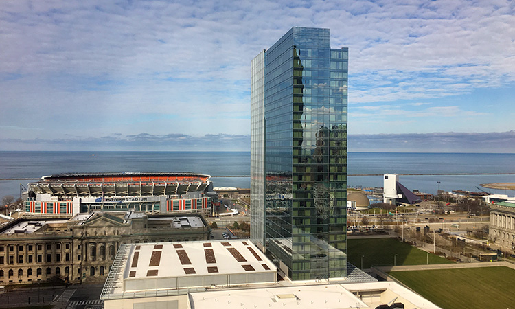 View of Lake Erie from Cleveland Marriott Downtown at Key Tower