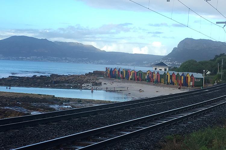 Muizenberg beach along Two Oceans Marathon route
