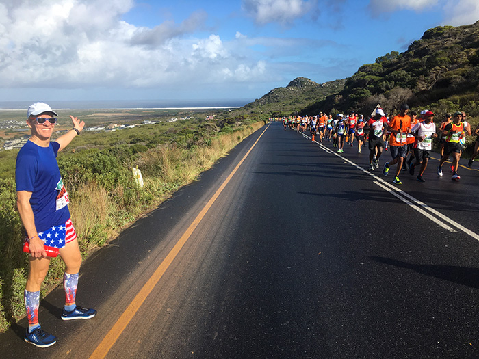 The view from Ou Kaapse Weg during Two Oceans Marathon
