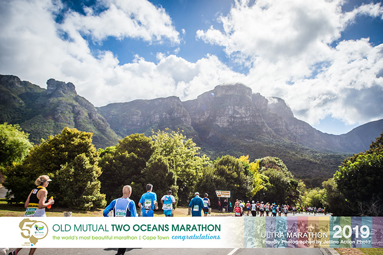 Approaching the Kirstenbosch National Botanical Garden at 52 km of the Two Oceans Marathon