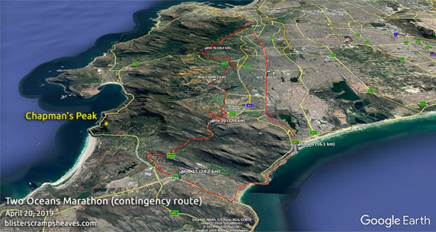 Two Oceans Marathon 2019 contigency route