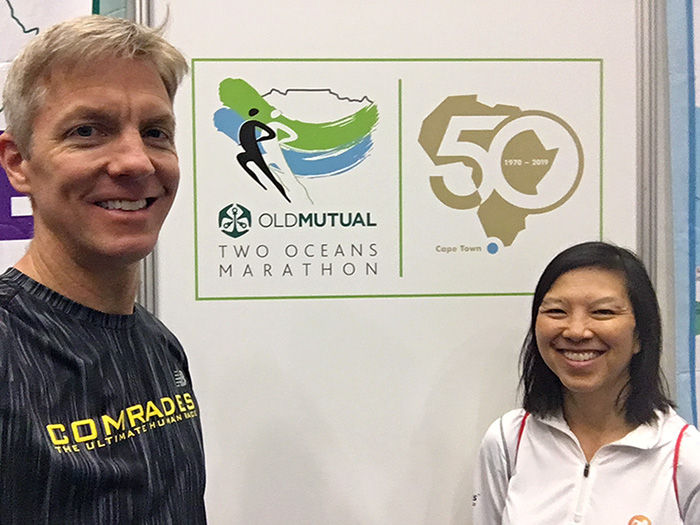 Mike and Katie at Two Oceans Marathon expo
