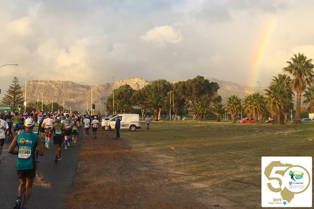 Rainbow sighting on Two Oceans Marathon course