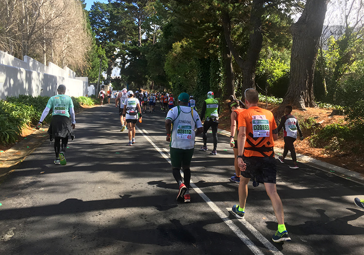 Southern Cross Drive at 47km of Two Oceans Marathon
