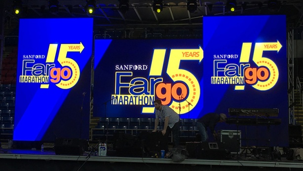 15th annual Sanford Fargo Marathon signage