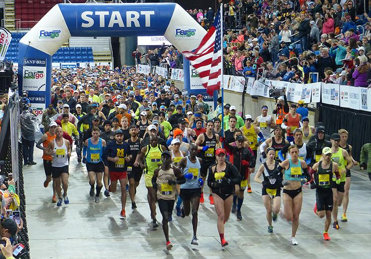 Fargo Marathon start