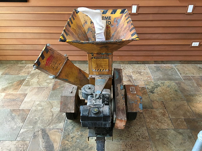 Woodchipper from Fargo movie at visitors center