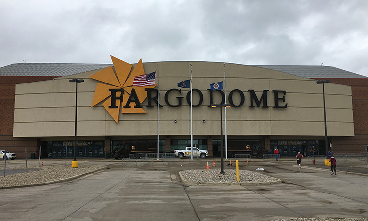 Outside view of Fargodome