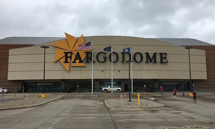 Outside view of Fargodome