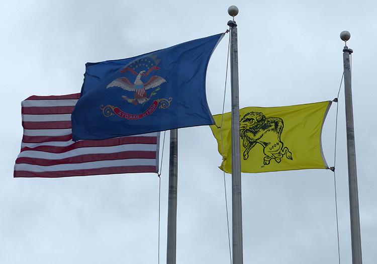 Flags in North Dakota