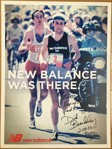 "Dick Beardsley and Alberto Salazar during the 1982 Boston Marathon ""Duel in the Sun"""