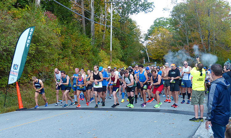 Clarence DeMar Marathon 2020 start
