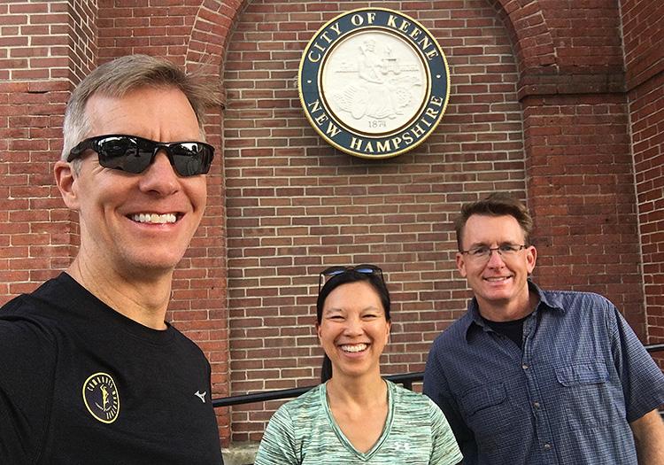 Mike S, Ken S & Katie H in Keene, NH