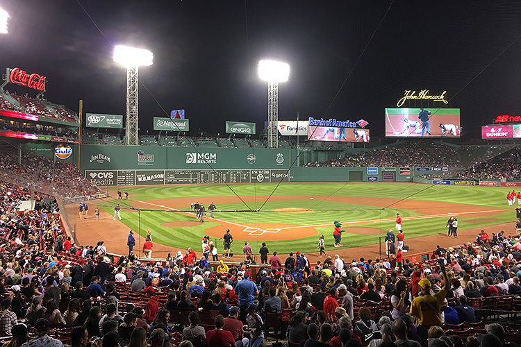Boston Red Sox game at Fenway Park