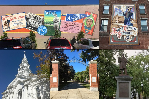 Collage of scenes from Keene, NH