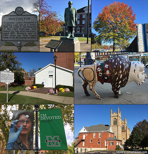 Collage of scenes from Huntington, West Virginia