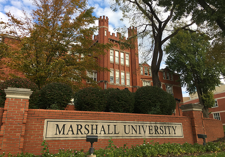 Marshall University sign