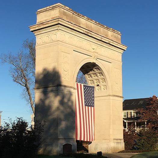 Memorial Arch in Kiwanis Park, Huntington WV