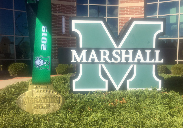 2019 Marshall University Marathon medal