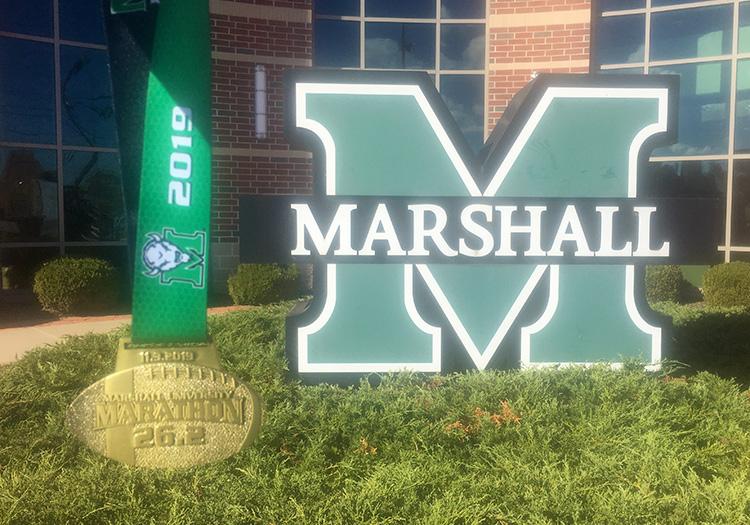 2019 Marshall University Marathon medal