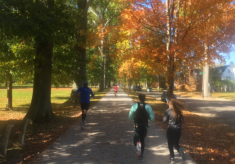 Ritter Park, mile 22 of Marshall University Marathon