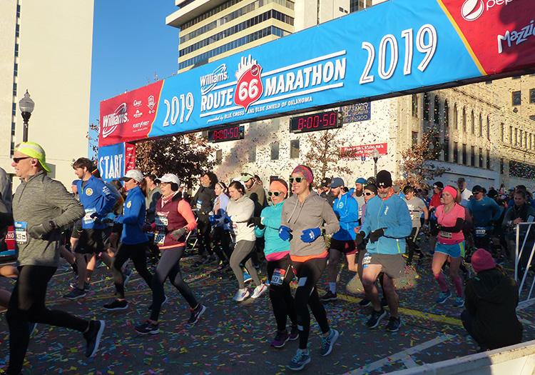 2019 Route 66 Marathon start