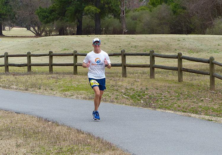 Mike Sohaskey on the Arkansas River Trail, mile 24 of the Little Rock Marathon