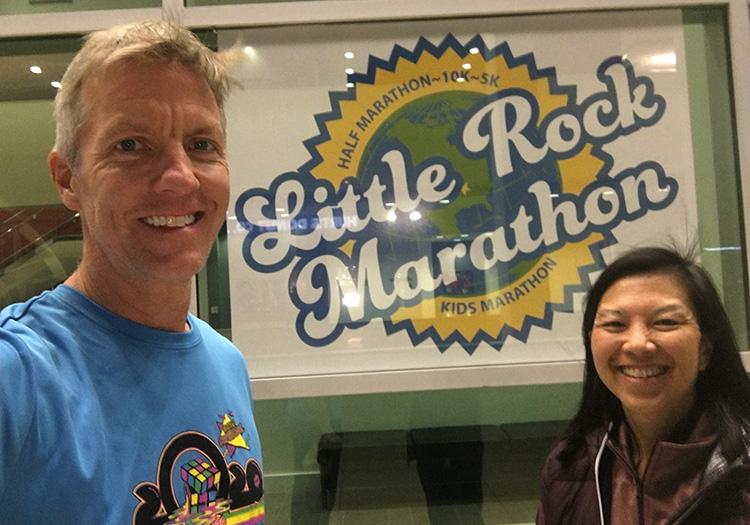 Mike Sohaskey & Katie Ho at 2020 Little Rock Marathon