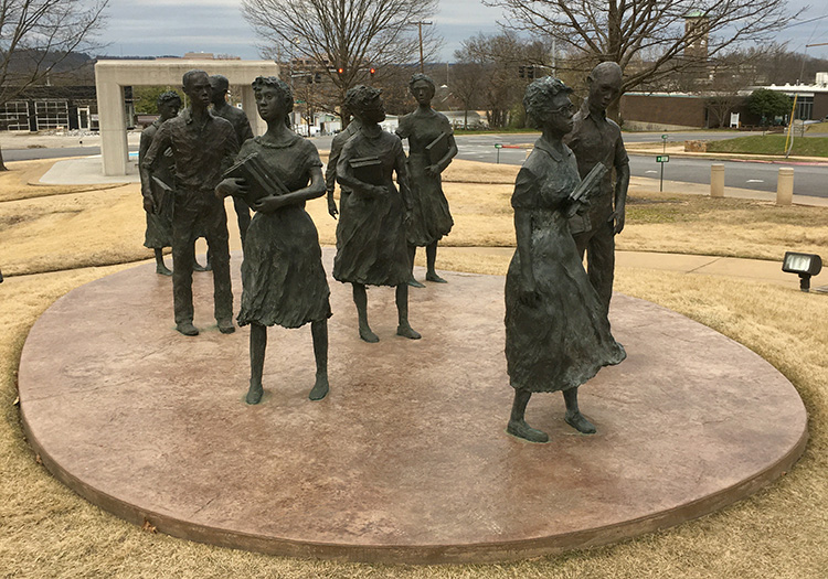 """""""Testament: The Little Rock Nine Monument"""" at the Little Rock State Capitol"""