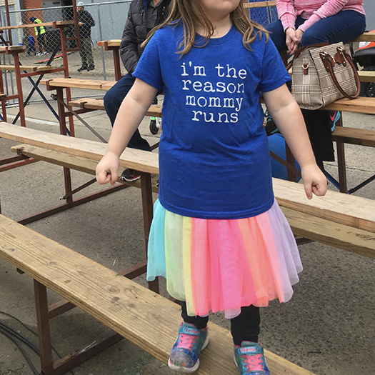 """I'm the reason mommy runs"" t-shirt"